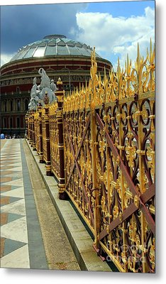 Royal Albert Hall And Golden Gate Metal Print by Sophie Vigneault