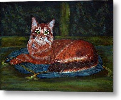 Royal Cat Metal Print by Elena Melnikova
