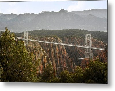 Royal Gorge Bridge Colorado - The World's Highest Suspension Bridge Metal Print by Christine Till