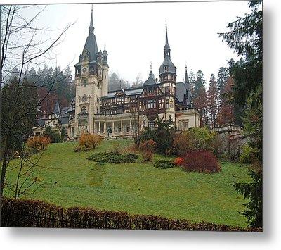 Royal Peles Castle Sinaia Romania Metal Print by Mircea Veleanu