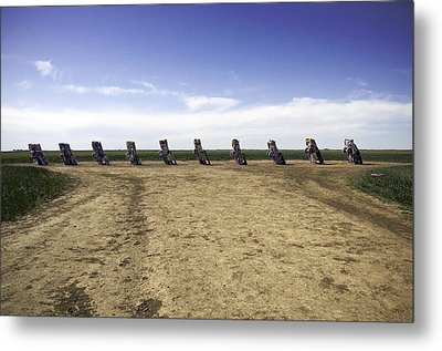 Metal Print featuring the photograph Rt 66 Cadillac Ranch  by Paul Plaine