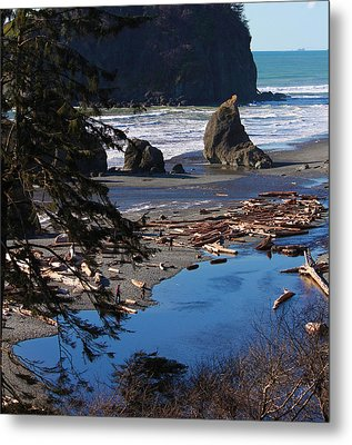 Metal Print featuring the photograph Ruby Beach IIi by Jeanette C Landstrom