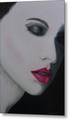 Ruby Lips Metal Print by David Hawkes