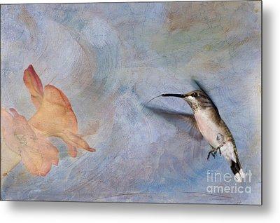 Ruby Throated Hummingbird 2 Metal Print by Betty LaRue