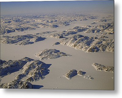 Rugged Rocky Hills Line The Edge Metal Print