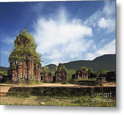Ruins Of Hindu Temples Metal Print by Skip Nall