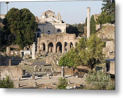 Ruins. Roman Forum Metal Print by Bernard Jaubert