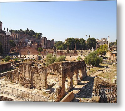 Ruins. Roman Forum. Rome Metal Print by Bernard Jaubert