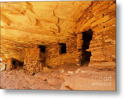 Ruins Structures Metal Print by Bob and Nancy Kendrick
