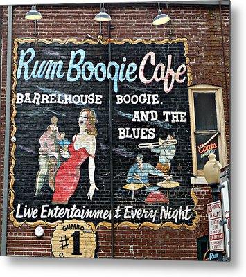 Rum Boogie Cafe Metal Print
