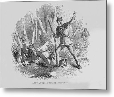 Runaway Slave With Armed Slave Catcher Metal Print by Everett