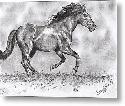 Running Metal Print by Samantha Howell
