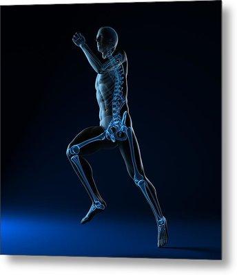 Running Skeleton, Artwork Metal Print by Sciepro