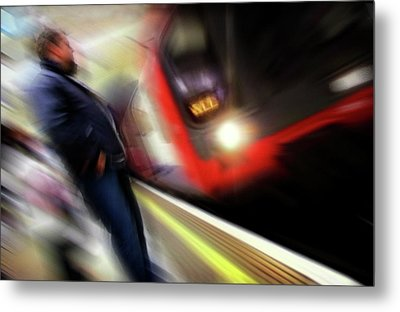 Metal Print featuring the photograph Rush by Richard Piper