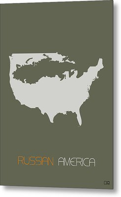Russian America Poster Metal Print by Naxart Studio