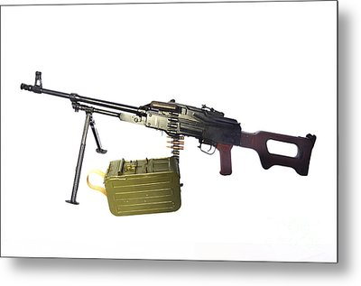 Russian Pkm General-purpose Machine Gun Metal Print by Andrew Chittock