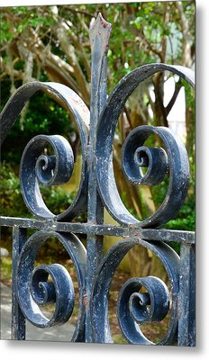 Rusted Charleston Ironwork Metal Print