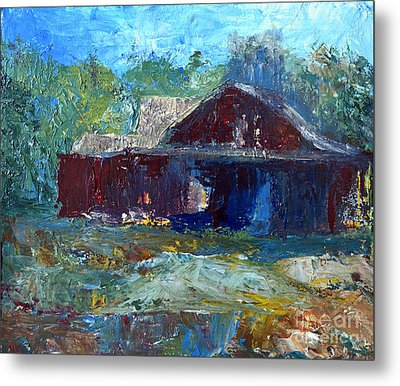 Rustic Barn Metal Print by Claire Bull