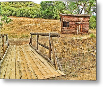Rustic Cabin Metal Print by Jason Abando