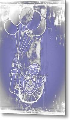 Rustic Clown Metal Print