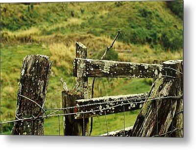 Rustic Fence Metal Print by Marilyn Wilson