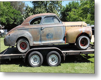 Rusty 1941 Chevrolet . 5d16210 Metal Print by Wingsdomain Art and Photography