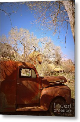 Metal Print featuring the photograph Rusty Beauty by Tanya  Searcy