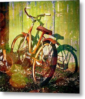 Rusty Bikes Metal Print by Sonja Quintero