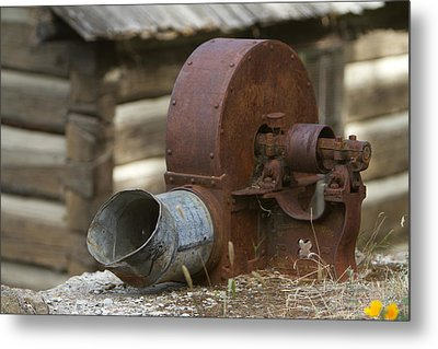 Rusty Blower Metal Print by JoJo Photography