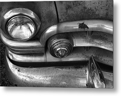 Rusty Cadillac Detail Metal Print by Lyle Hatch