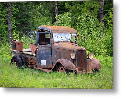 Metal Print featuring the photograph Rusty Chevy by Steve McKinzie
