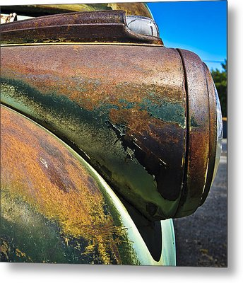 Rusty Dodge Lights Metal Print by Tony Locke