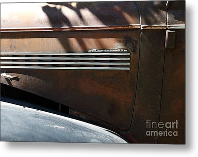 Rusty Old 1939 Chevrolet Master 85 . 5d16199 Metal Print by Wingsdomain Art and Photography