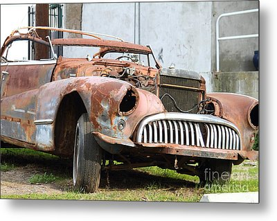 Rusty Old American Car . 7d10347 Metal Print by Wingsdomain Art and Photography