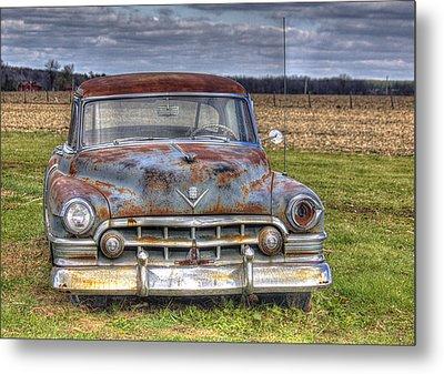 Rusty Old Cadillac - Torcwori Metal Print