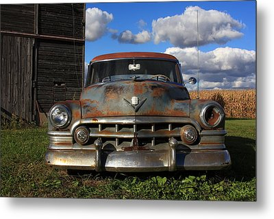 Rusty Old Cadillac Metal Print by Lyle Hatch