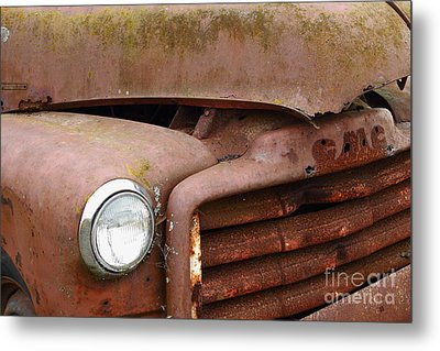 Rusty Old Gmc Truck . 7d8403 Metal Print by Wingsdomain Art and Photography