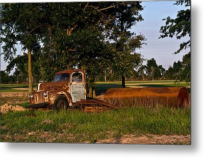 Rusty Truck And Tank Metal Print by Douglas Barnett