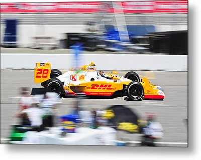 Ryan Hunter-reay Exiting Pit  Road Metal Print by Jarvis Chau
