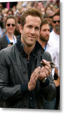 Ryan Reynolds At Arrivals For X-men Metal Print by Everett