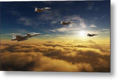 Sa Air Force Iron Eagles Metal Print by Nicole Champion