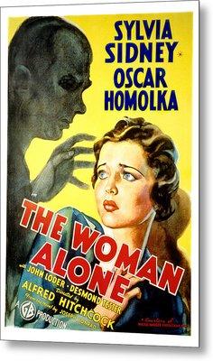 Sabotage, Aka The Woman Alone, Oscar Metal Print by Everett