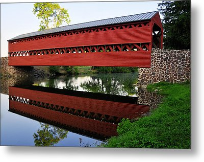 Metal Print featuring the photograph Sachs Covered Bridge by Dan Myers