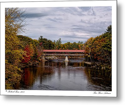 Metal Print featuring the photograph Saco River Autumn by Richard Bean