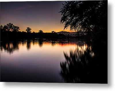 Metal Print featuring the photograph Sacramento River Sunset by Randy Wood
