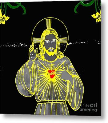 Sacred Heart Metal Print by Al Bourassa