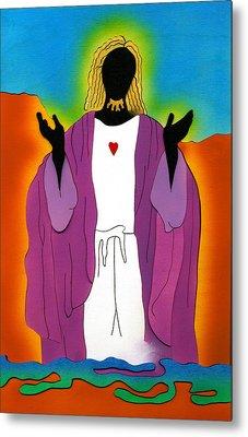 Sacred Heart Of Jesus Metal Print by Fred Gardner