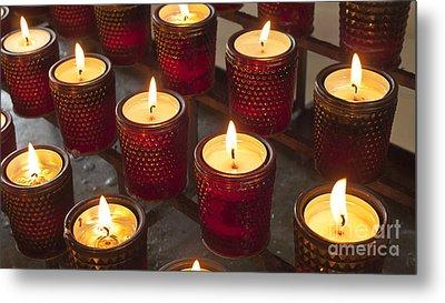 Sacrificial Candles Metal Print by Heiko Koehrer-Wagner