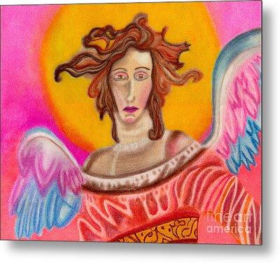 Sad Angel Metal Print by Christine Perry