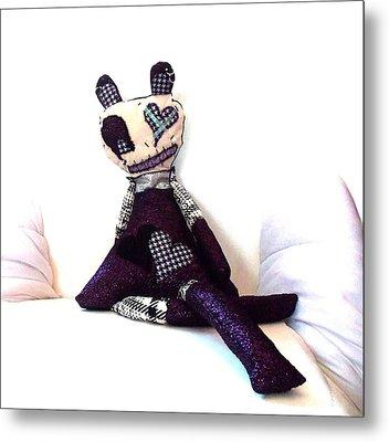 Sadie Soc Hop Zombie Metal Print by Oddball Art Co by Lizzy Love